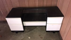 Vanity, coffee table / end table, Coleman camping grill for Sale in Bloomington, IL
