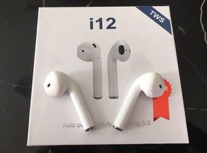 Lot of 2 x i12 TWS Bluetooth 5.0 Earphones Headphones Earbuds Touch Sealed White Color for Sale in Houston, TX
