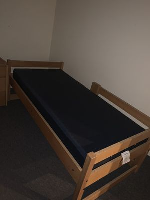 Twin bed frame with twin mattress included for Sale in Chicago, IL