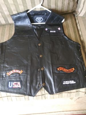 Leather riding vest for Sale in Port Richey, FL