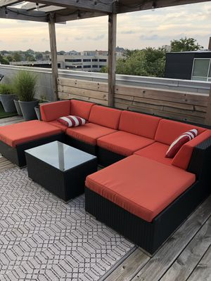 Ohana Collection Ohana 7-Piece Outdoor Patio Furniture Sectional Conversation Set, for Sale in Chicago, IL