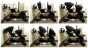 LIKE NEW JOOVY BIG CABOOSE DOUBLE AND TRIPLE STROLLER WITH STAND FOOT BOARD 2/3 CHILD SEATS for Sale in Glendale, CA