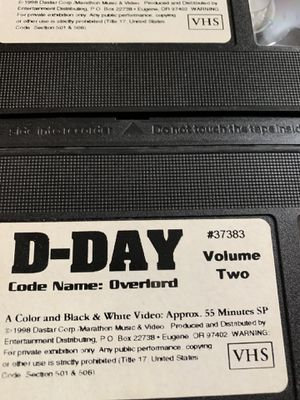 D day classic VHS vcr 3 pack for Sale in Metuchen, NJ