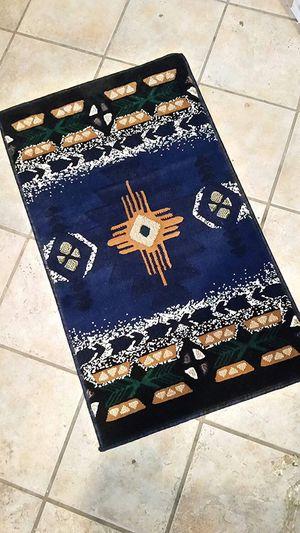 Navy blue color native design door mat area rug for Sale in Salem, OR