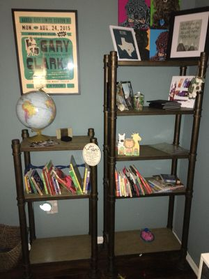 Four Hands gold wrought iron bookcases for Sale in Austin, TX