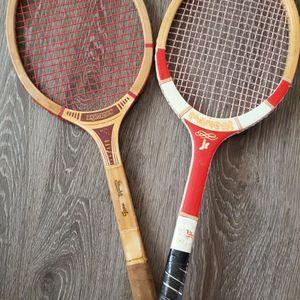 2 Vintage Tennis Raquets (Bangroft / Crescent) for Sale in Midland, TX