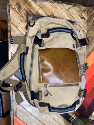 Canvas/Dungaree napsack, backpack, carryon, camping for Sale in Los Angeles, CA