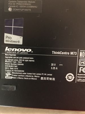 Lenovo Thinkcentre Desktop and Screen for Sale in Winston-Salem, NC