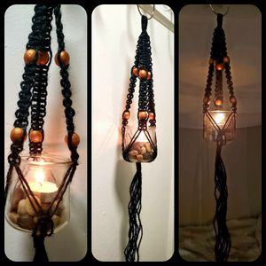 Handmade Macrame Hanging Lanterns for Sale in Denver, CO