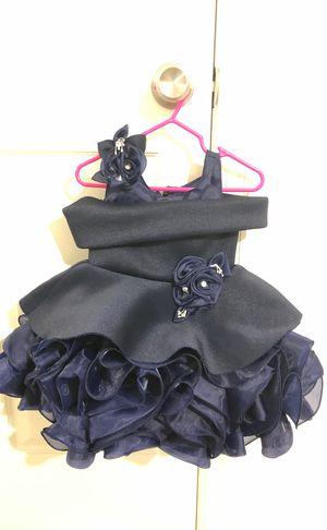 Navy fluffy floral dress for Sale in Woodbridge, VA