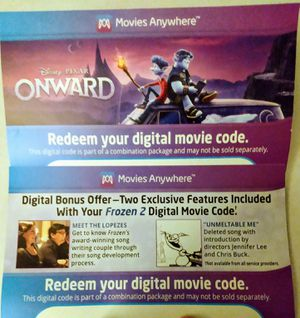 6 Digital Movie Download Codes for Sale in Longview, WA