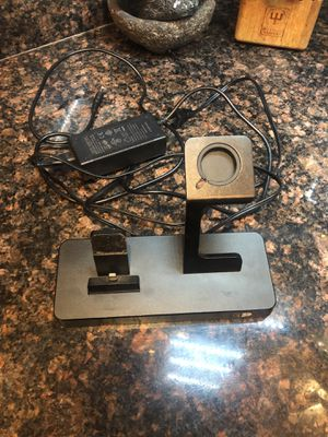iPhone and Apple watch night stand charger with 2usb ports on the back for Sale in Las Vegas, NV