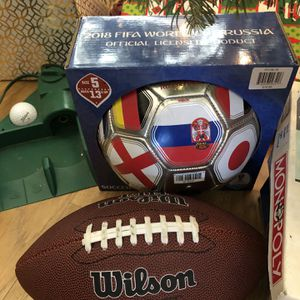 Lot Of Sports Stuff! Soccer Baseball Football Golf for Sale in Elk Grove, CA