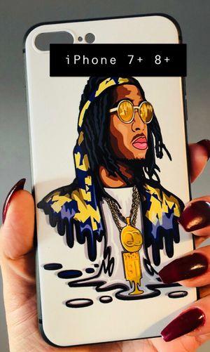 New iphone 7+ or iphone 8+ plus case rubber gel MIGOS cool celebrity street rap hype hypebeast for Sale in San Bernardino, CA
