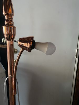 Rose gold lamp with two lights no shades for Sale in San Bernardino, CA