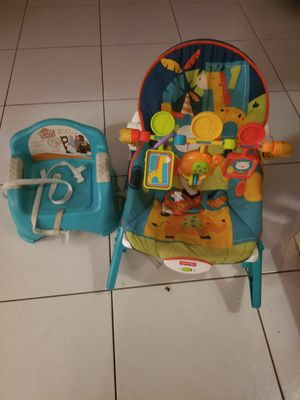 Booster seat and bouncer. for Sale in Lake Worth, FL