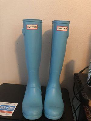 Hunter blue rain boots for Sale in Alvin, TX
