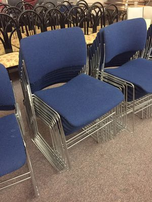36 metal/fabric chairs for Sale in Annandale, VA