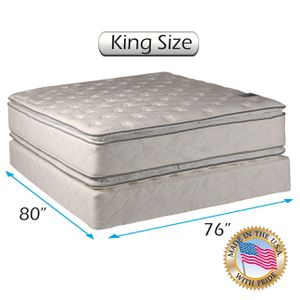 King Size Pillowtop Mattress, Headboard & Footbaord for Sale in New York, NY