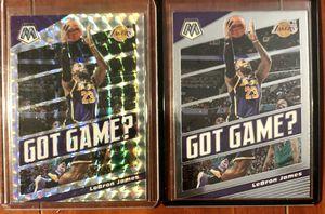 Panini NBA Mosaic Lebron James Got Game Silver & Base for Sale in Garden Grove, CA