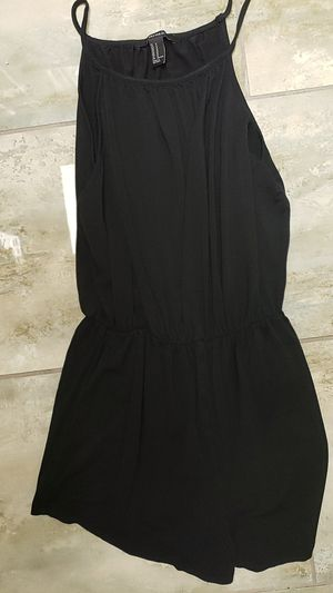 Forever 21 size medium m black cute little romper goth punk party baby doll Halloween costume drag for Sale in Scottsdale, AZ