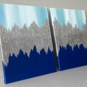 Wall Art Glitter Glam Art Home Decor Accent Pieces Set for Sale in Smyrna, GA