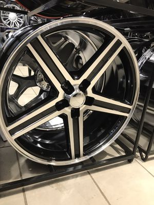 """New 24"""" Iroc black and machine wheels rims tires 5x127 5x5 bolt pattern for Sale in Chicago, IL"""