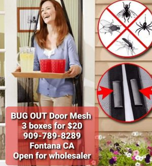 BUG OUT door mesh 3 boxes for $20 for Sale in Fontana, CA