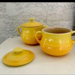 Le Cruset Rare SOLIEL yellow stoneware for Sale in Mesa, AZ