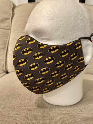 Handmade Masks Batman. DC Comics . 100% Cotton. Hypoallergenic. Reusable. 5 Layers. Filter. for Sale in Orlando, FL