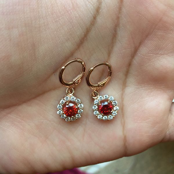 Rose gold plated earrings jewelry accessory