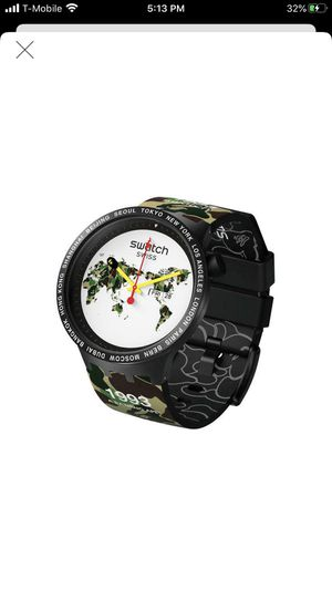 Bape X Swatch Big Bold The World Edition for Sale in Santa Rosa, CA
