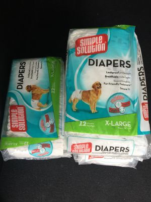 Diapers for big dog X Large!! for Sale in Annandale, VA