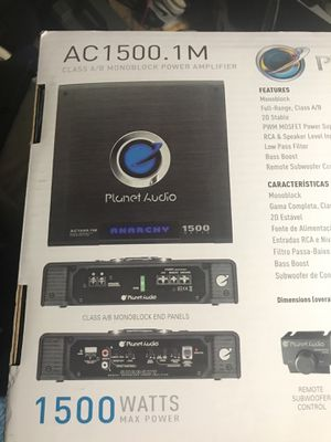 Car amp planet audio 1500w for Sale in Hyattsville, MD