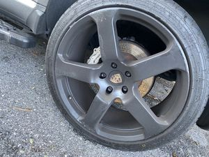 22 inch 5 lug Porsche rims and new tires for Sale in Washington, DC
