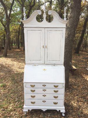 Tall vintage drop front secretary desk for Sale in Little Elm, TX