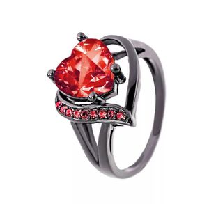 Red crystal heart ladies ring for Sale in Saint Cloud, FL