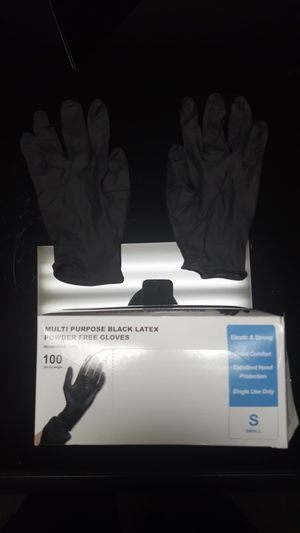 6 BOXES 🔥 Strong Black Latex gloves 🚨 Small Medium Large X-Large available ✔ for Sale in Garden Grove, CA
