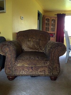 Large Overstuffed Chair &Ottoman for Sale in Beaverton, OR