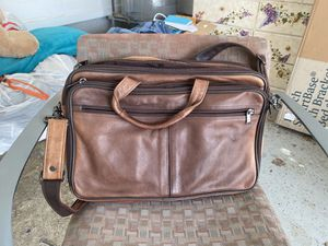 Bigger leather briefcase 3 sections for Sale in Murfreesboro, TN