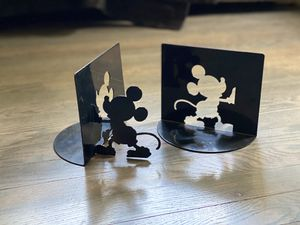 Vintage metal silhouette Bookends Mickey Mouse for Sale in Columbus, OH