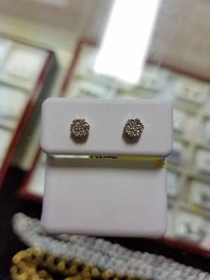 Diamond earrings 10k gold for Sale in St. Louis, MO