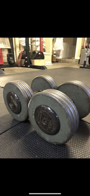 65lb dumbbell set ivankos for Sale in Montebello, CA