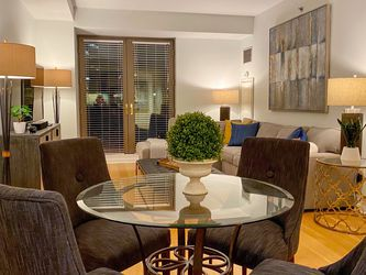 """38"""" Round Glass Top Dining Table for Sale in Brookline,  MA"""