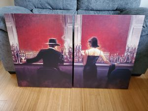 Set of 2 Classy Bar Paintings on Canvas for Sale in Mill Creek, WA