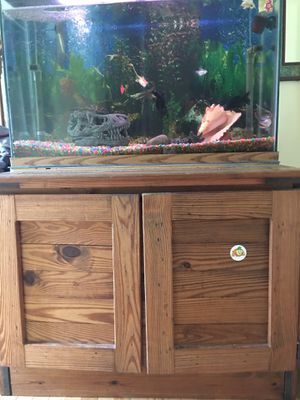 Full setup 49 gallon aquarium fish tank for Sale in Fairfax, VA