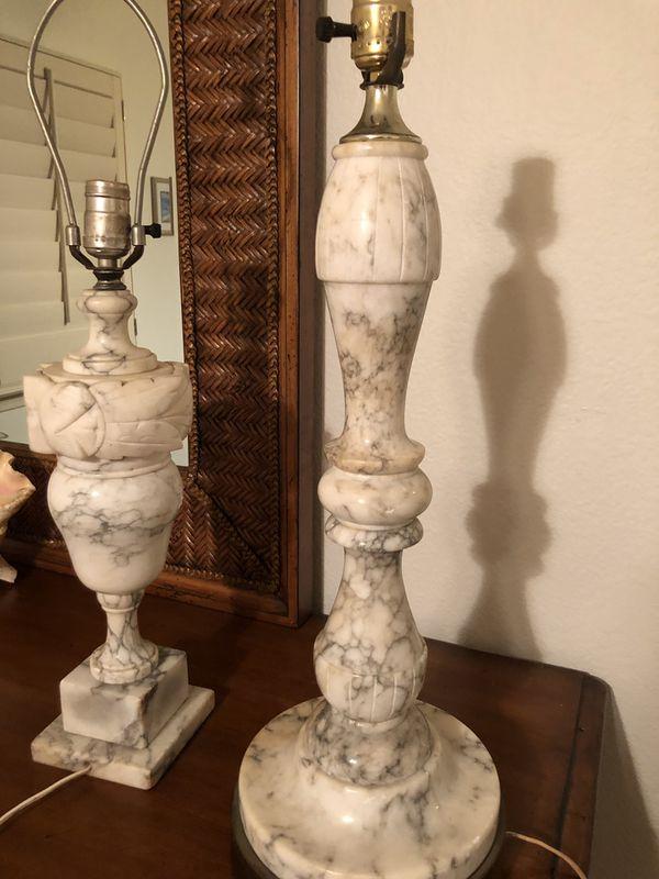 Alabaster lamps