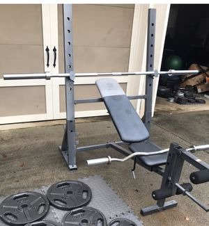 Weight Bench / Squat Rack with leg attachment for Sale in Alpharetta, GA