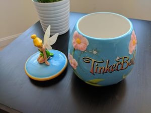 Tinkerbell large cookie jar for Sale in Olney, MD