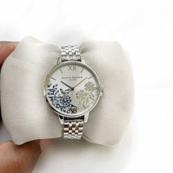 OLIVIA BURTON BEJEWELED LACE SILVER BRACELET WATCH for Sale in Horn Lake,  MS
